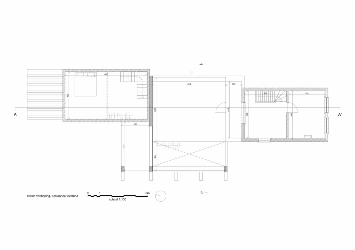 Eerste verdieping bestaande toestand